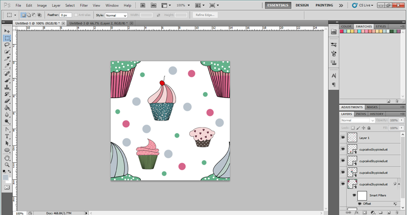 how to know the center of the canvas in illustrator