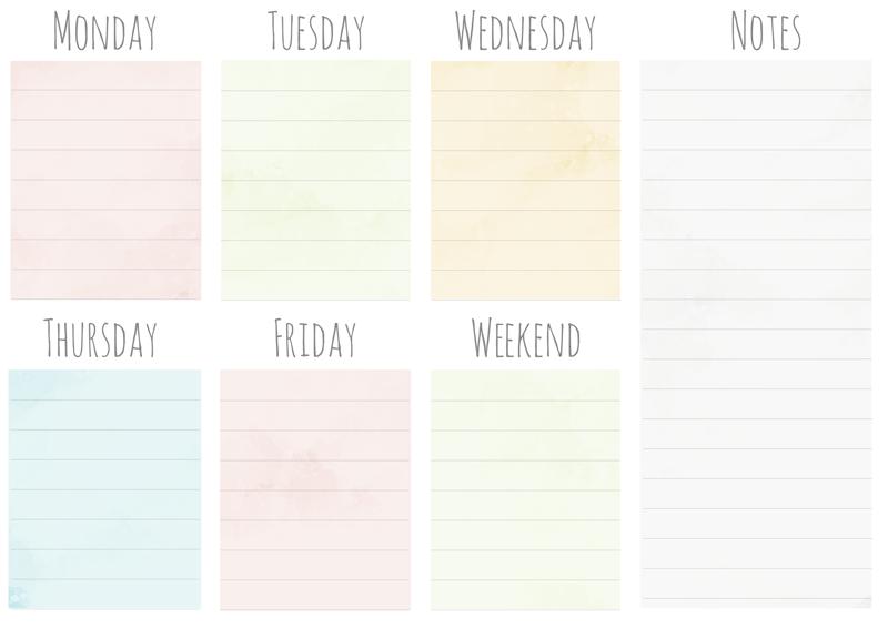 photograph regarding Weekly Planner Printable known as Cost-free Weekly Planner Printables ~ Elan Imaginative Co.