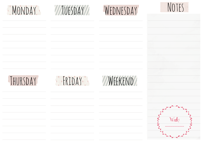 Free Weekly Planner Printables 183 Elan Blog Studio
