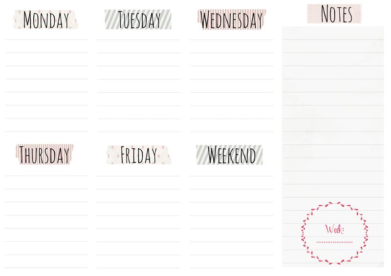 Best Weekly Planner | Calendar Template 2016