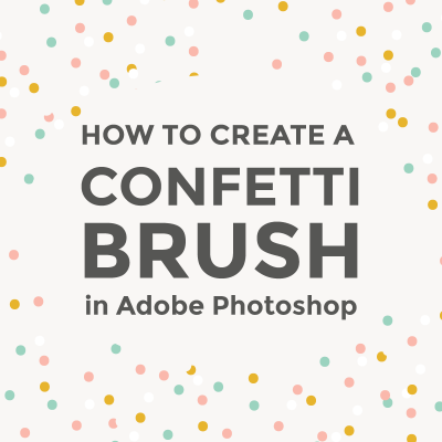 Create a confetti brush in Photoshop