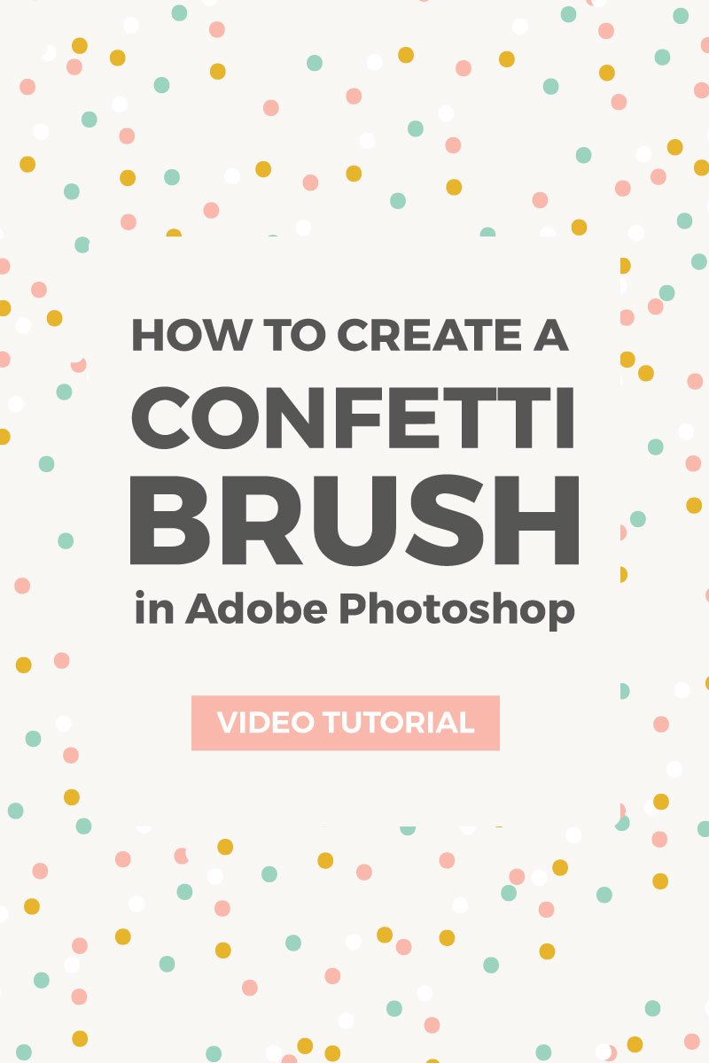 How to make a confetti brush in Photoshop