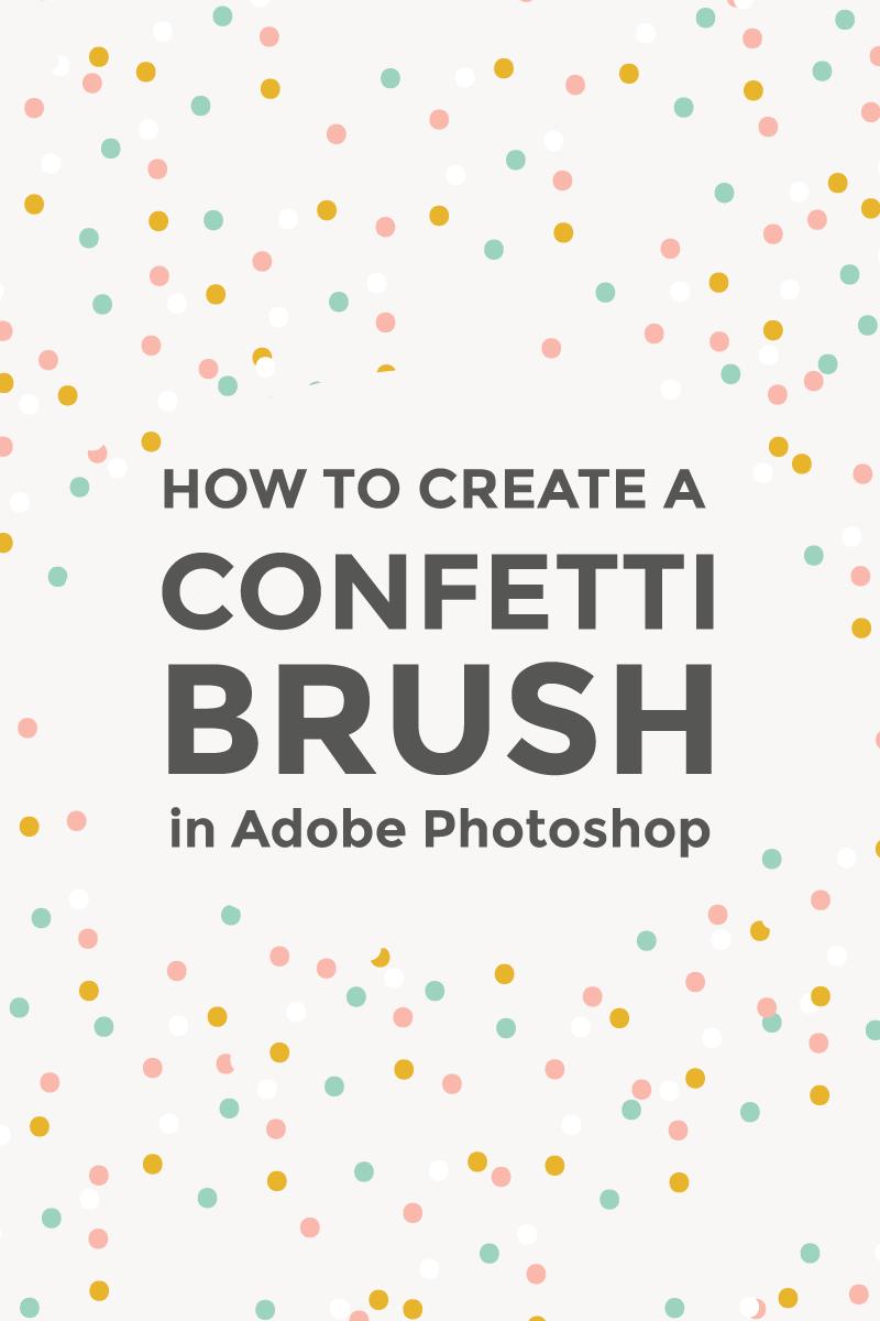 Create a confetti brush in Photoshop ~ Elan Creative Co.