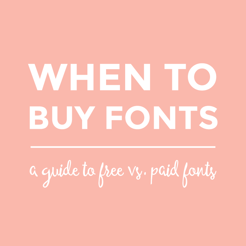When to buy fonts