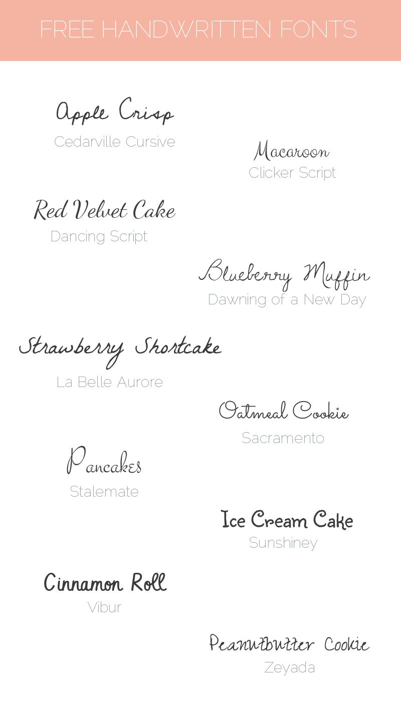 Sunday Freebie 10 Free Handwritten Fonts