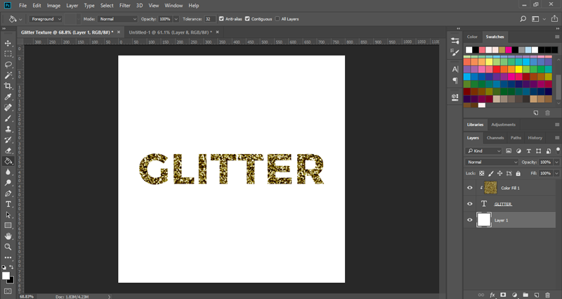 How to make a glitter texture in Photoshop