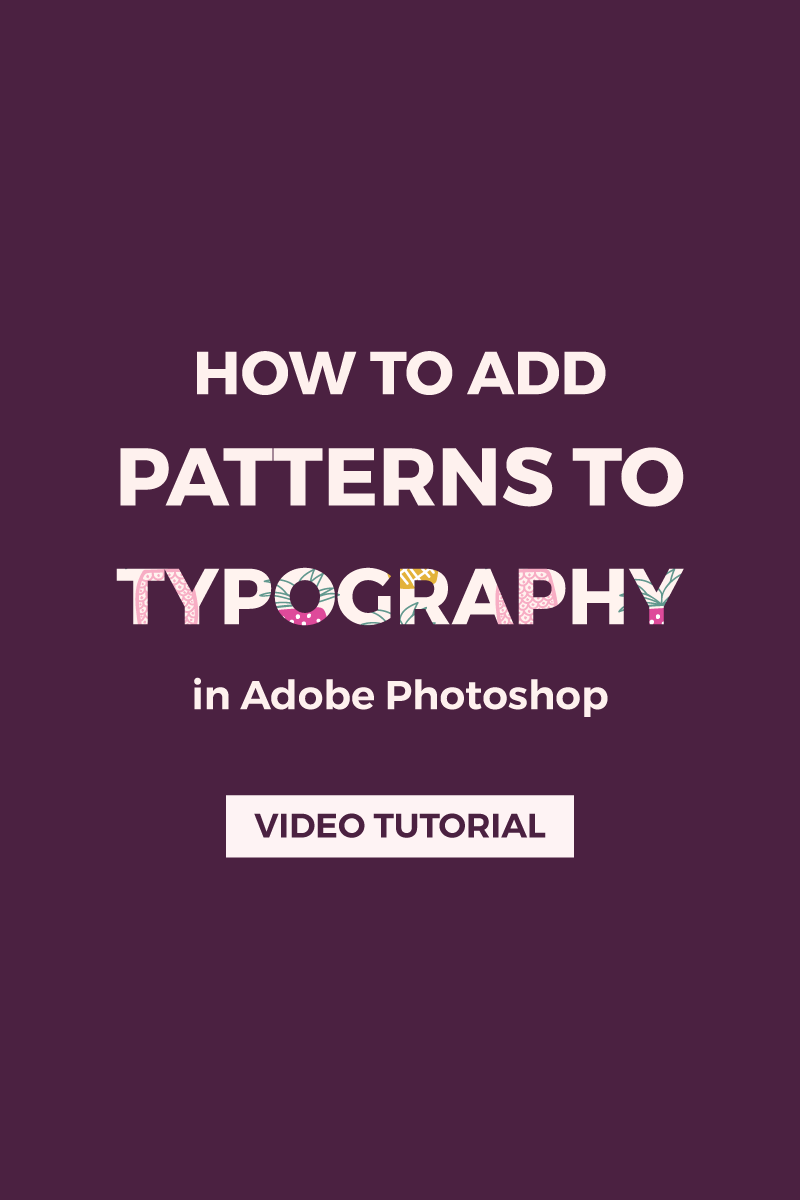 How to add patterns or textures to typography