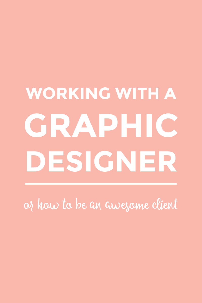 Working with a graphic designer