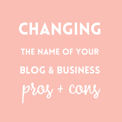 Changing your blog name