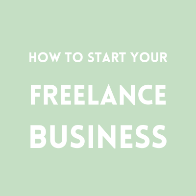 Starting your freelance business