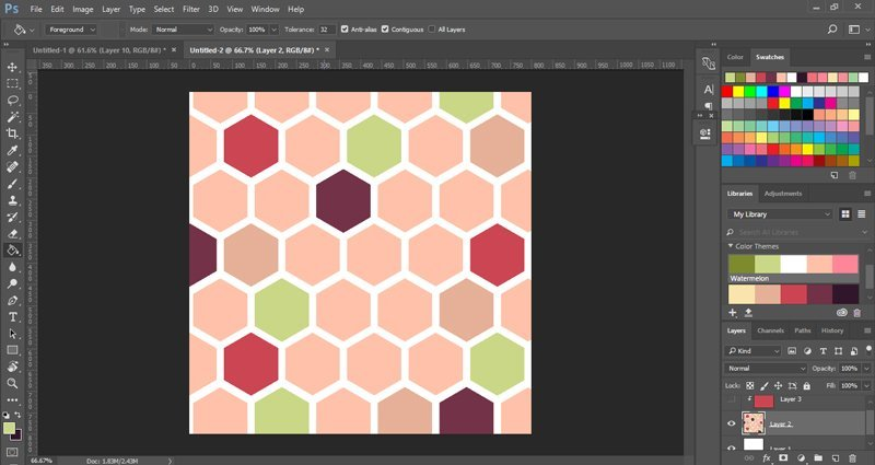 Seamless honeycomb pattern in Photoshop