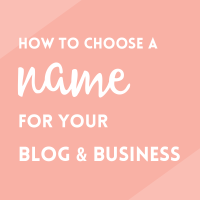 Choose the right blog name