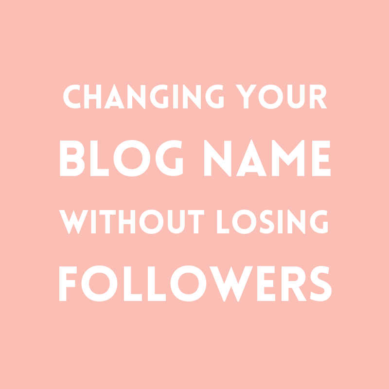 Changing your blog name without losing followers