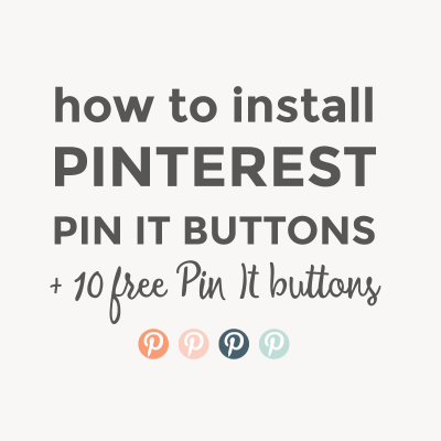 10 free Pin It buttons