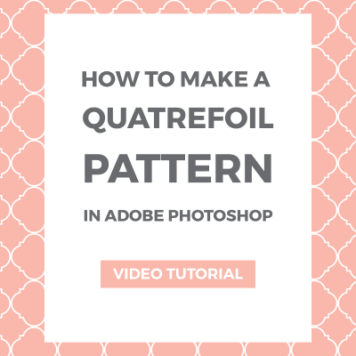 How to make a quatrefoil pattern in Photoshop