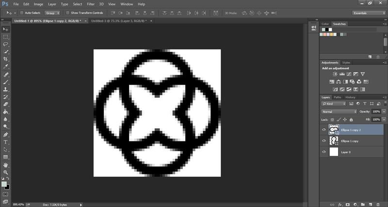 Make a quatrefoil pattern in Photoshop