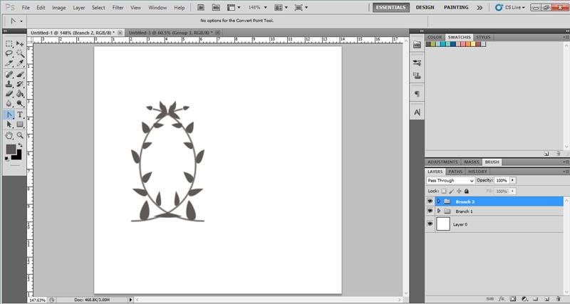Make a laurel wreath in Photoshop