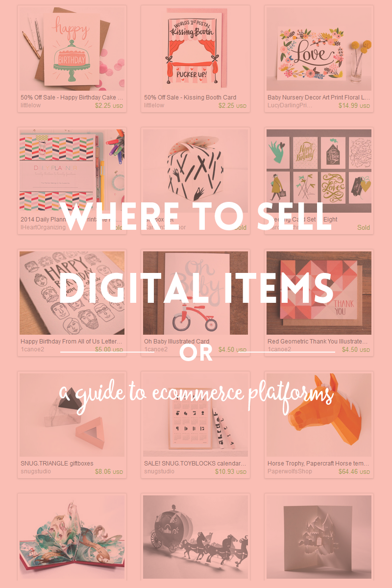 Ecommerce platforms or where to sell digital products ~ Elan ...