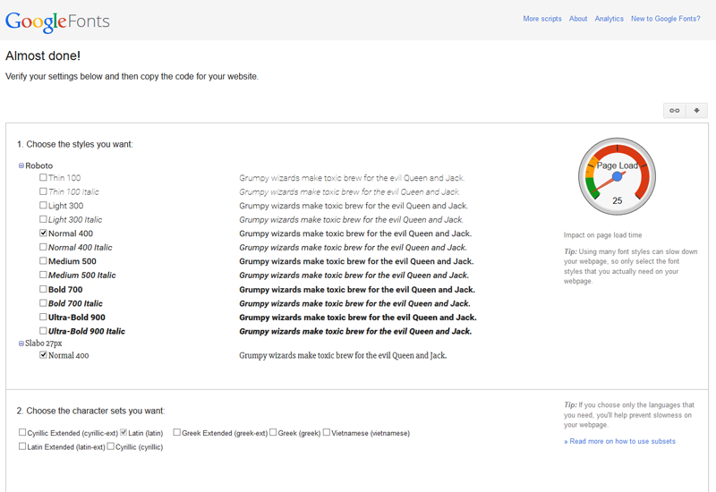 Install Google Fonts