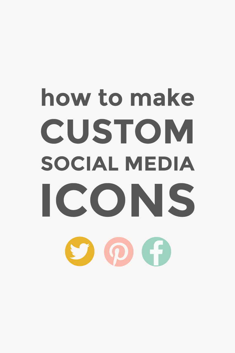 How to make social media icons / featured image