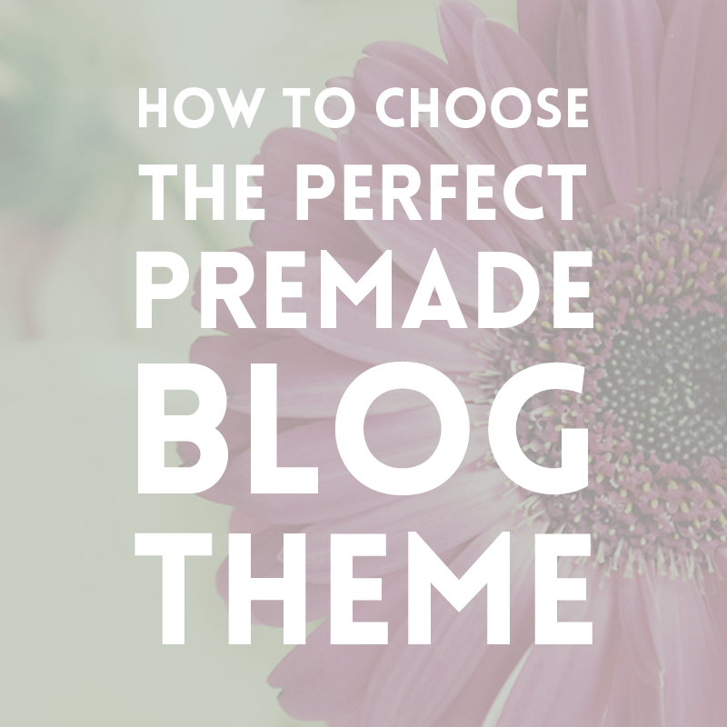 How to choose a premade blog theme