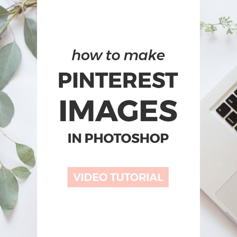 How to make image templates in Photoshop for Pinterest and social media