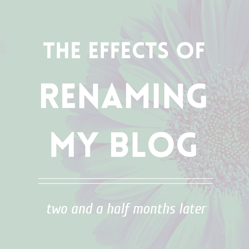 The effects of renaming my blog