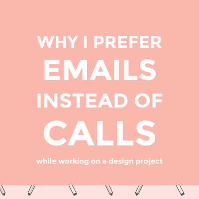 Why I prefer emails to calls