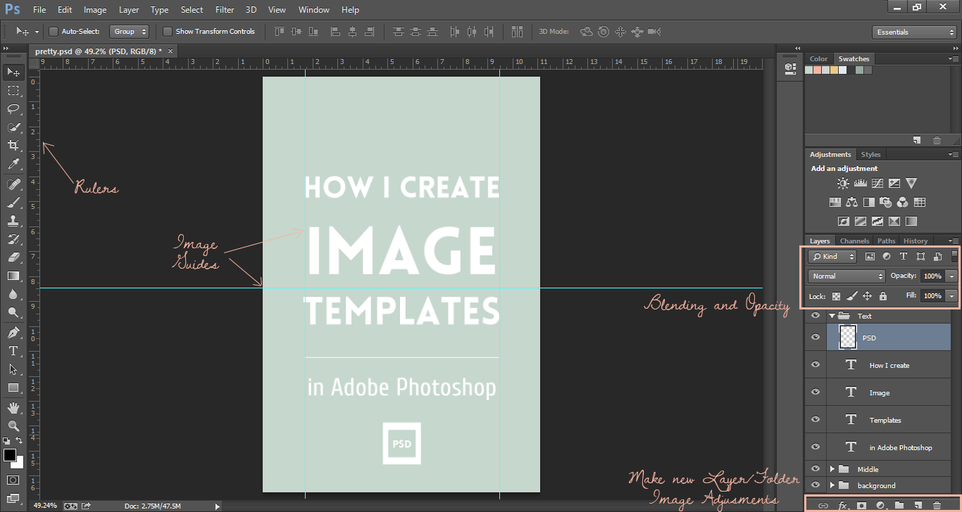 Creating image templates in Photoshop Elan Creative Co