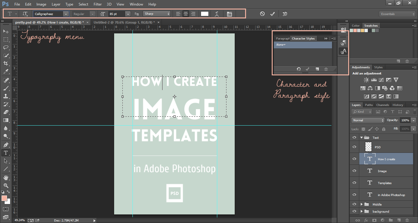 Creating image templates