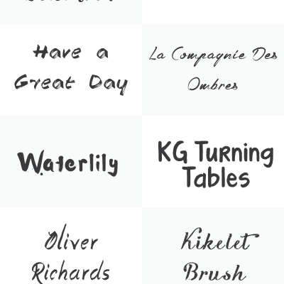 Free Brush Fonts