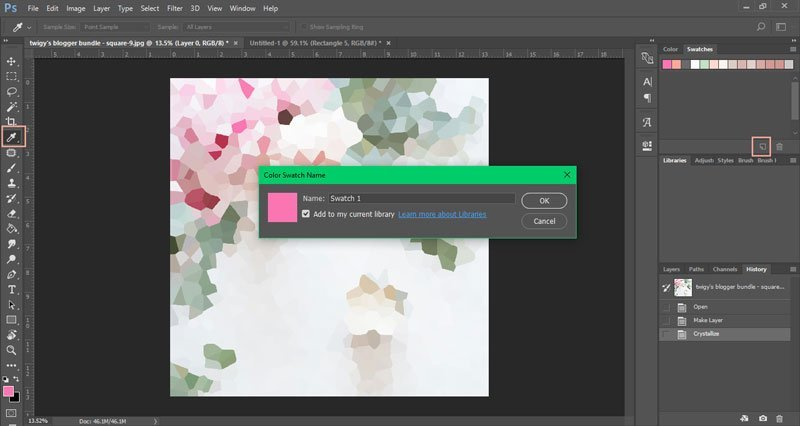 How to create a color palette in Photoshop