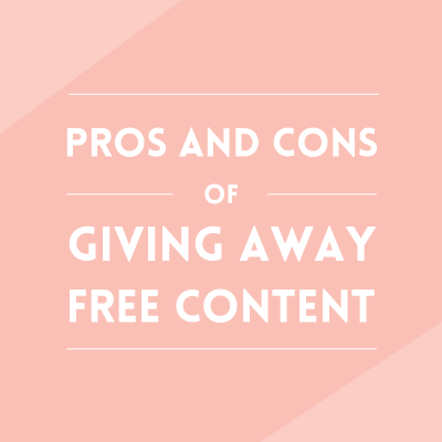 Giving away free content