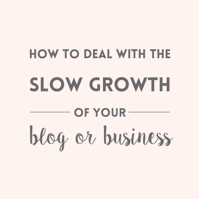 Slow growth of your blog or business