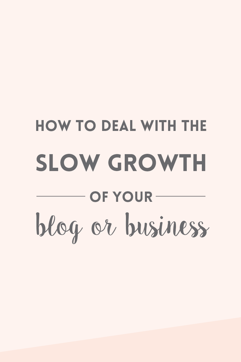 Slow growth of a blog or business