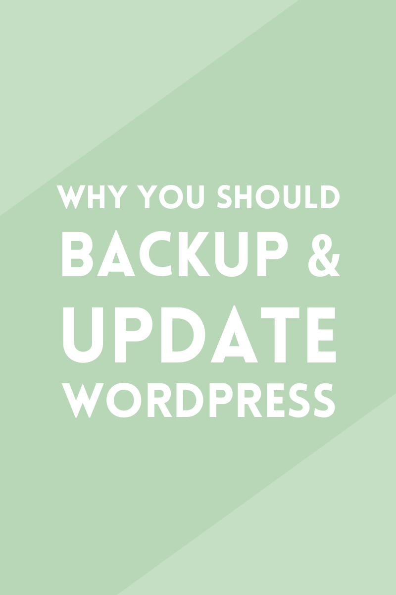 Why you should backup and update WordPress