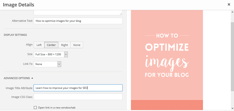 How to use the image title attribute