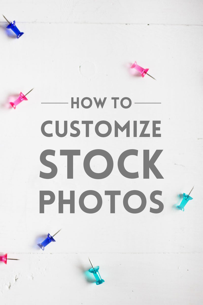 How to customize stock photos