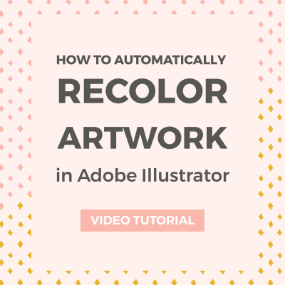 How to recolor artwork in Adobe Illustrator