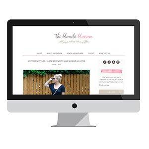 The Blonde Blossom: Blog Design