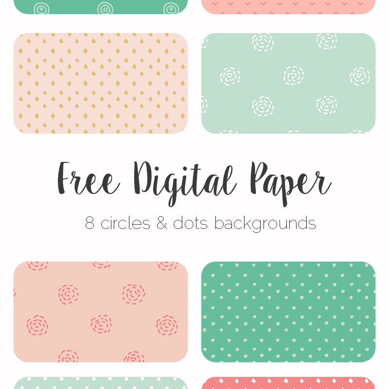 Free hand drawn digital paper