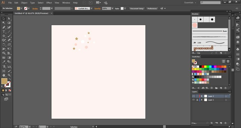 Create confetti brush in Adobe Illustrator