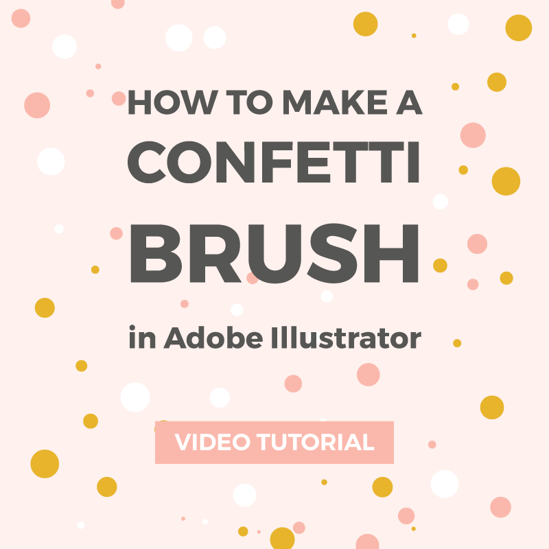 How to make a confetti brush in Illustrator
