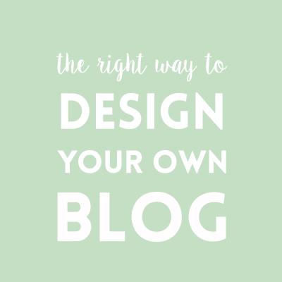 The right way to design your own blog