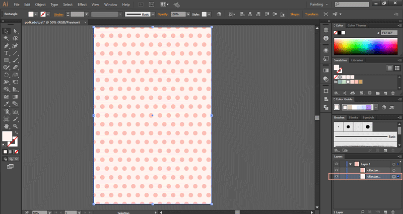 Create a polka dot pattern in Illustrator ~ Elan Creative Co
