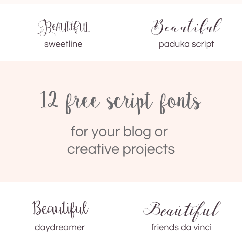 12 free beautiful script fonts