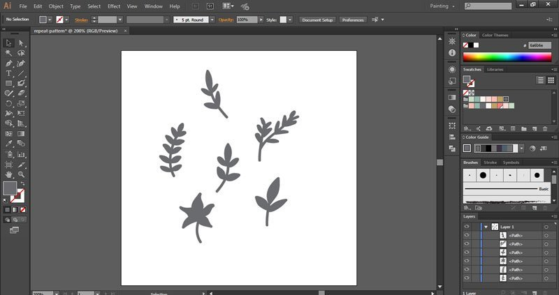 How to create a repeat pattern in Illustrator