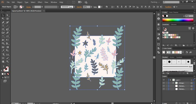 How To Create A Seamless Pattern In Illustrator Elan Creative Co Delectable Repeat Pattern Illustrator