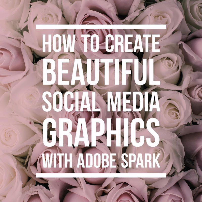 How to create social media images with Adobe Spark
