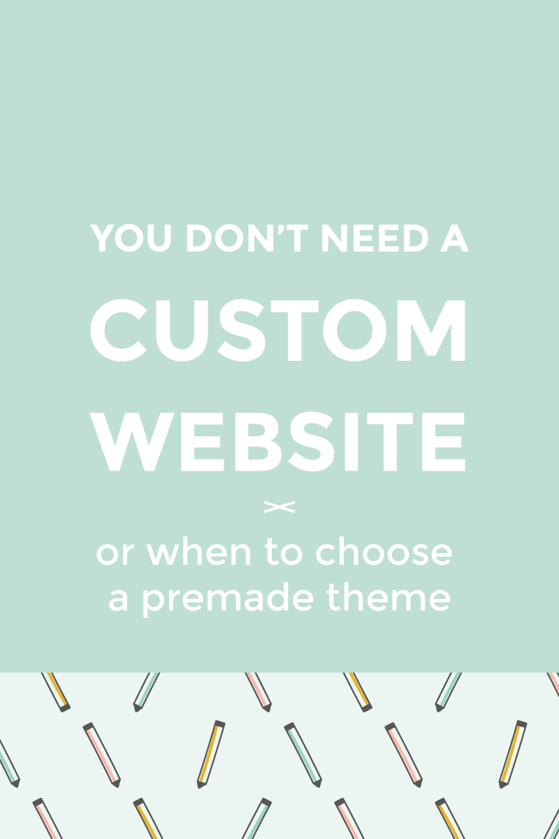 Why you don't need a custom website